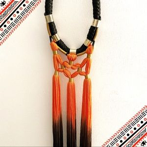Gradient statement necklace